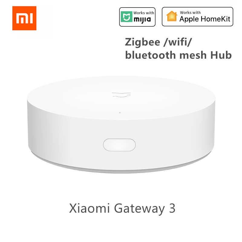 Xiaomi akıllı çok fonksiyonlu ağ geçidi 2 /3 WiFi uzaktan kumanda RGB radyo gece lambası ev güvenlik cihazı desteği Homekit