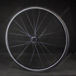Image 5 - 700C Aero באיכות גבוהה מלא 32mm גומת חן חצץ גלגלי אופני Cyclecross CX מרוצי נימוק מכריע ללא פנימית משלוח חינם