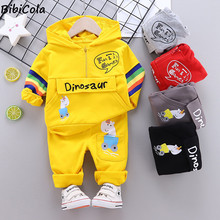 Infant Clothing Sets Baby Suit 2021 Autumn Spring Clothes For Newborn Baby Boys Clothes Hoodie+Pant 2pcs Outfit Kids Costume cheap BibiCola COTTON Polyester 0-6m 7-12m 13-24m CN(Origin) Spring Autumn Fashion Hooded Pullover Full Flare Sleeve Fits true to size take your normal size