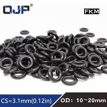Fluorine Seal-Gasket O-Ring-Seal Rubber-Ring FKM 10pcs/Lot Black Cs:3.1mm 13/14/15-/..