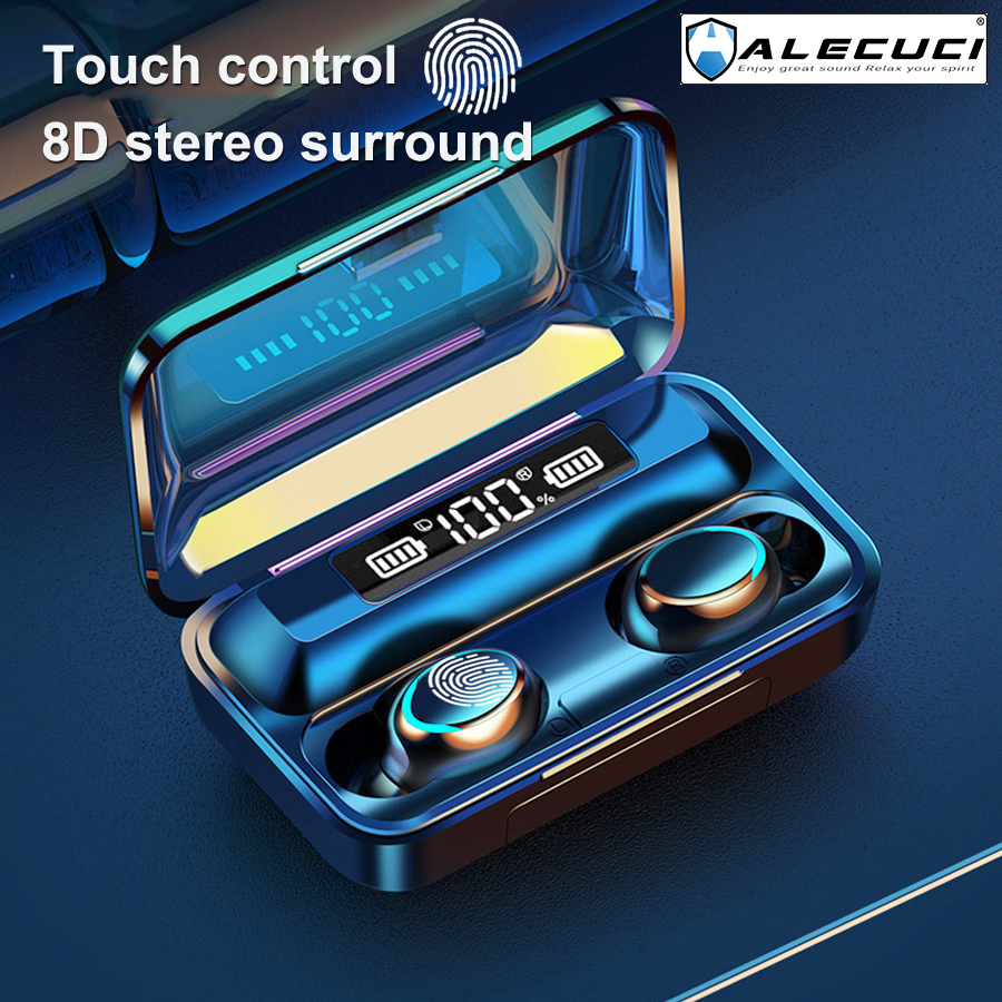 ALECUCI F9-5C Wireless Earbuds Bluetooth 5.0 Earphones True Wireless Stereo Headphones with Built-in Microphone for Sports 1