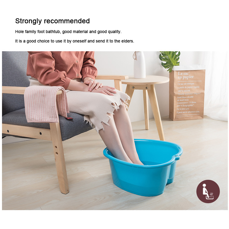 Foot Care Bath SPA Plastic Tub Soak Basin Pedicure Detox Massage Feet DC120