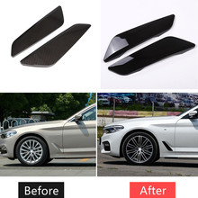 цена на 1Pair ABS Car Shark Side Sticker Accessories for BMW 5 Series 2018 Car Front Fender Side Emblem Air Vent Cover Decal Car-styling