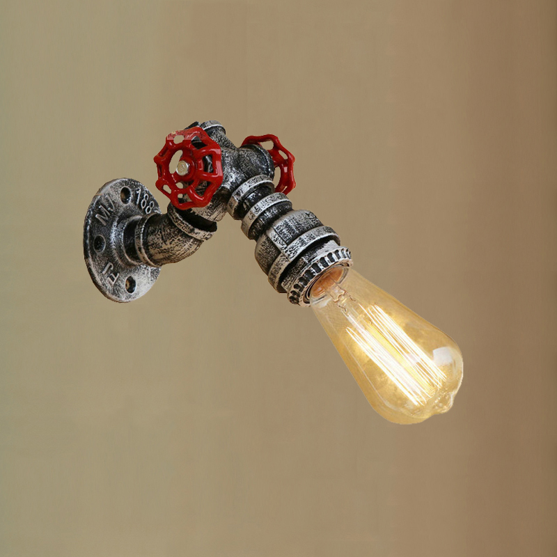 Vintage Light E27 Edison Indoor Wall Lamp Industry Lofe Steam Punk Pipe Bedside Stair Aisle Corridor Cafe Wall Light Scoce Bra