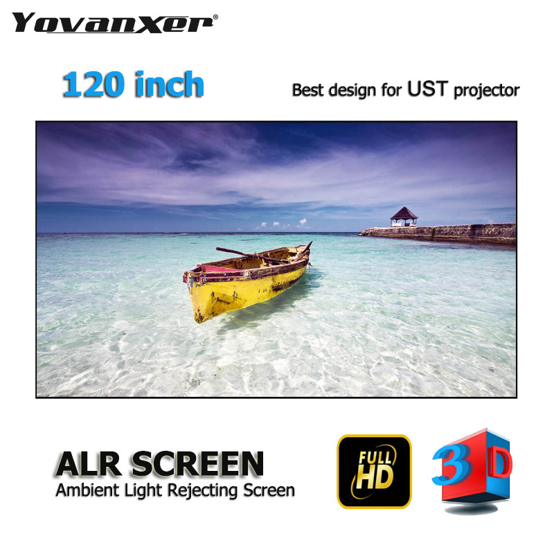 Top class Luce Ambiente Rifiutare ALR Schermo di Proiezione 120 Ultra-sottile border Frame per Xiaomi Wemax Norma Mijia UST proiettori