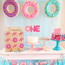DIY Practical Household Wooden Doughnut Holder Birthday Party Decoration Creative Candy