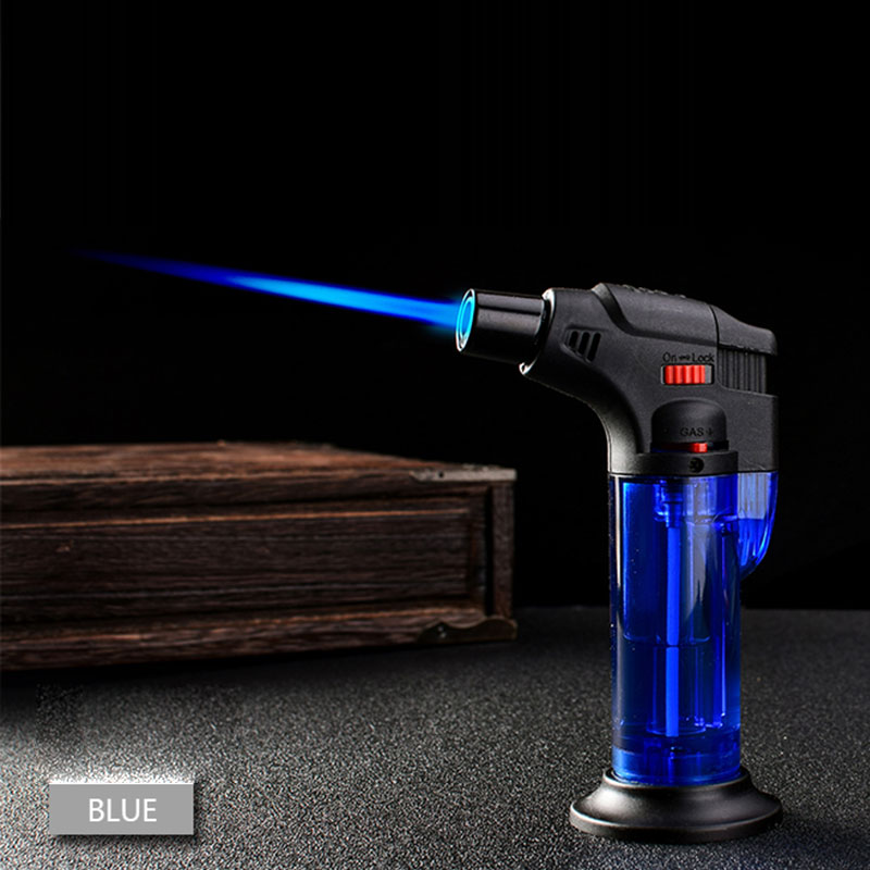 Butane Lighter Torch Refillable Adjustable Flame Lighter Chef Cooking Torch BBQ Ignition Picnic Tool Dropshipping E