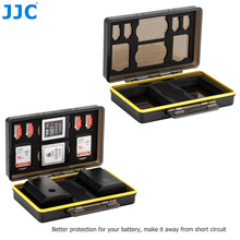 JJC Water Resistant Anti Shock Camera Battery Case Box For Fujifilm NP W126 NP W126S NP 95 With Slots for SD MSD XQD Memory Card