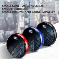 Mini Power Bank 20000mAh Mirror Screen Portable Digital Display Powerbank 2.1A Fast Charger External Battery Poverbank For Phone|Power Bank| |  -