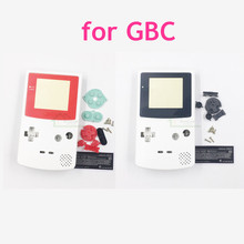 White color replacement housing shell case for gameboy color game console for GBC house with buttons