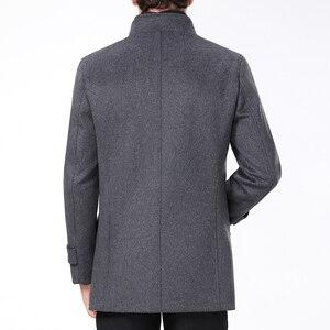Image 4 - معطف رجالي طويل من الصوف ماركة Mu Yuan Yang معطف 50% من الصوف للرجال ملابس شتوية غير رسمية من الكشمير الدافئ مقاس كبير 5XL 6XL
