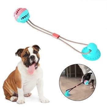 Juguetes para perros ventosa de silicona Tug juguete Push juguete mascota dientes cepillo de limpieza de dientes para perros para perro grande perro mordiendo juguete lg6