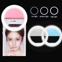 Anillo de luz LED de relleno para selfi, lámpara portátil para teléfono móvil, 28 LED, 3 niveles de iluminación, anillo luminoso con Clip para todos los teléfonos móviles