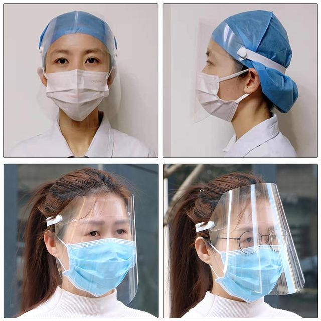 Safety Clear Grinding Face Shield Screen Mask Visor Eye Protection Anti-fog Protective Prevent Saliva Splash Mask Dropshipping 2