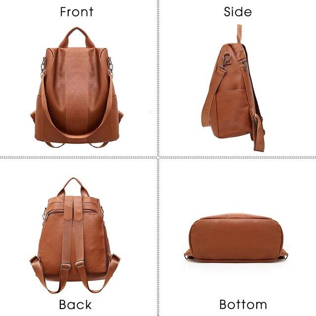 Модный женский рюкзачок с защитой от кражи содержимого 4