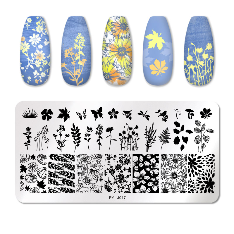 PICT YOU 12*6cm Nail Art Templates Stamping Plate Design Flower Animal Glass Temperature Lace Stamp Templates Plates Image 58