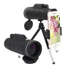 Lente per telefono 40x Zoom telescopio monoculare Super Lens per telefono HD Camera Lentes per iPhone 6S 7 Xiaomi altro cellulare con treppiede