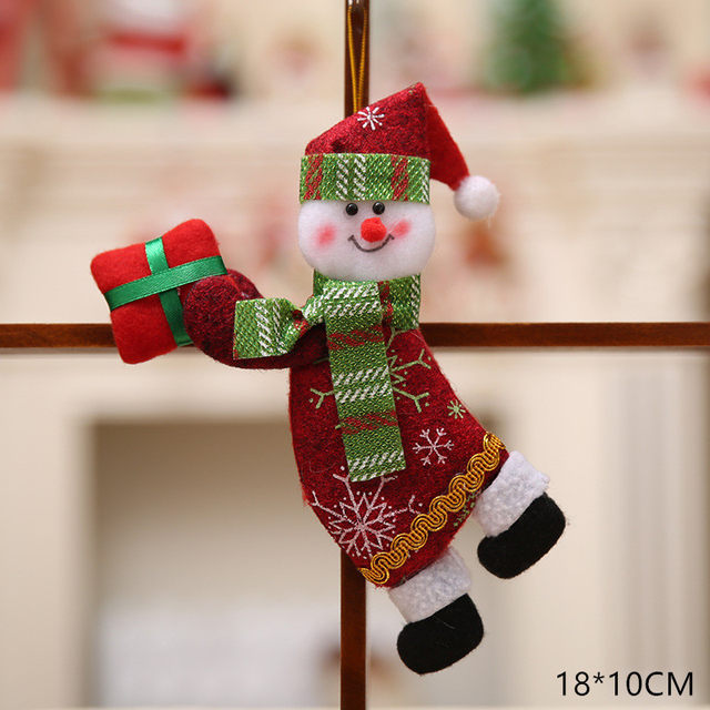 New Year 2020 Cute Santa Claus/Snowman/Angel Christmas Dolls Noel Christmas Tree Decoration for Home Xmas Navidad 2019 Kids Gift 46