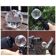 Photography Prism with 1/4 Vlogger Photography Crystal Ball Optical Glass Magic Photo Ball Photography Studio Accessories