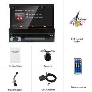 Image 3 - Radio con GPS para coche, radio con reproductor DVD, android 10, 1DIN, 7 pulgadas, HD, Bluetooth, USB, cámara trasera, unidad principal de coche, ESTÉREO