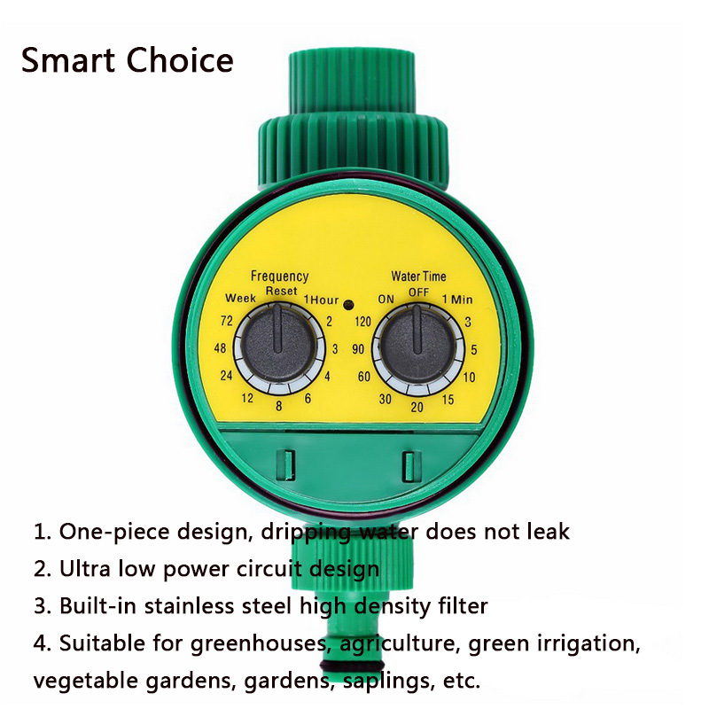 Analogue Two Dial Plastic Water Timer Valve Multi-function Garden Automatic Electronic Watering Faucet Irrigation Controller #G