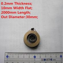 Ressort fin en spirale plate en acier inoxydable, ressort à Force constante, épaisseur 0.2mm * largeur 10mm * longueur 2000mm * diamètre extérieur 30mm