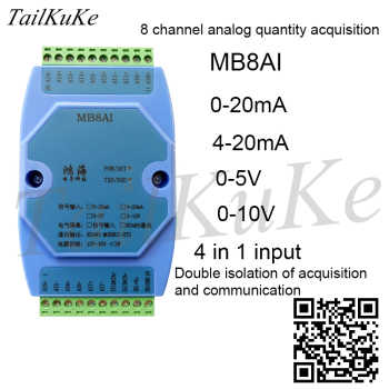 0-20mA 4-20mA 0-5V 0-10V Analog Input Acquisition Module RS485 MODBUS RTU - DISCOUNT ITEM  0% OFF All Category