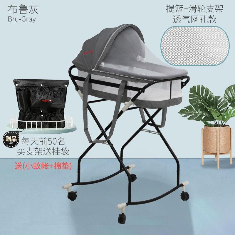 845 Portable Bed in Bed Infant Basket Foldable Car Mounted Nursing Discharge a Carrycot Newborns Hand Basket