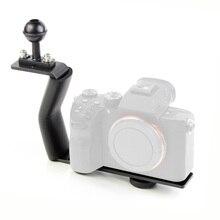 BGNing Z tipi tek kolu dağı ayarlanabilir tepsi braketi SLR spor aksiyon kameraları tutucu dalış çift Handgrip braketi desteği
