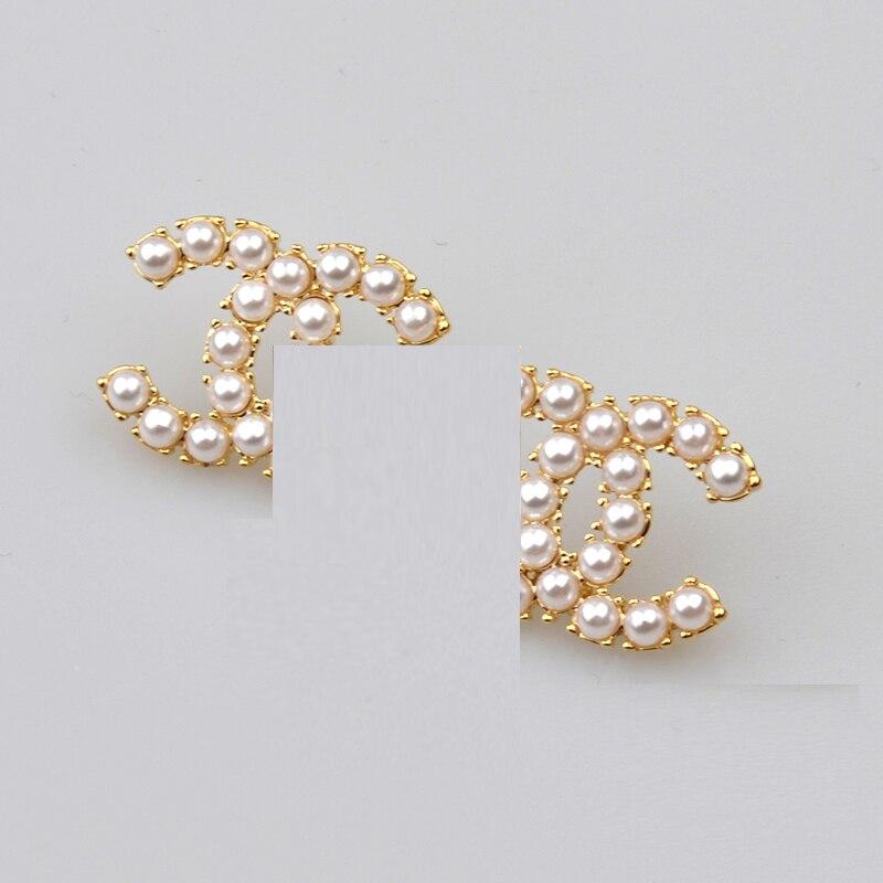 2020 Cute Love Geometric Zircon Drop Earrings For Women Korean Brand Pearl Dangle Earrings New Fashion Jewelry Statement