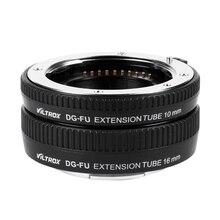 VILTROX DG FU Lấy Nét Tự Động AF Bộ Chuyển Đổi Ống Kính Ốp cho Fujifilm X Giá Gắn Ống Kính Macro Ống Nối Dài Vòng 10mm 16mm Bộ Kim Loại Gắn