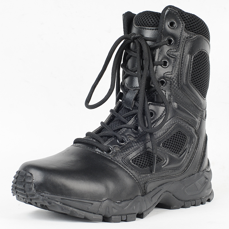 CQB. Swat Elite Spider Combat Boots Tactical Boots Hiking Boots Genuine Leather Training Boots