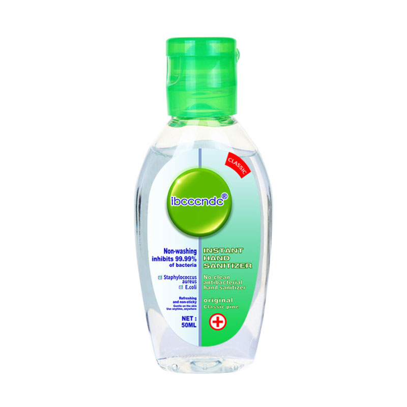 50ml Antibacterial Hand Sanitizer Hand Disinfection Gel No-clean Quick-Dry Disposable Handgel 75% Ethanol Sanitizer Dropshipping