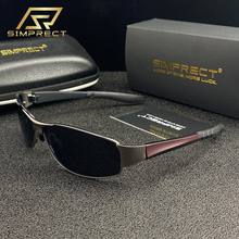SIMPRECT Fashion Metal Polarized Sunglasses Men 2020 TAC UV400 Anti-glare Square Sunglasses Retro Driver's Sun Glasses For Men