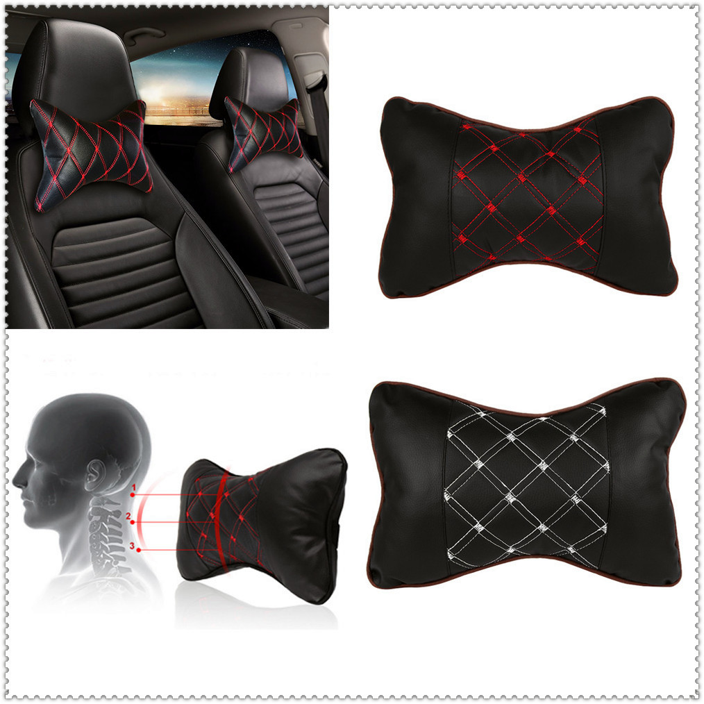 Car Pillow Headrest Seat Head Neck Rest Cushion Pad For Peugeot Jeep Harley-Davidson Buick Bentley Scania 6008 301 408