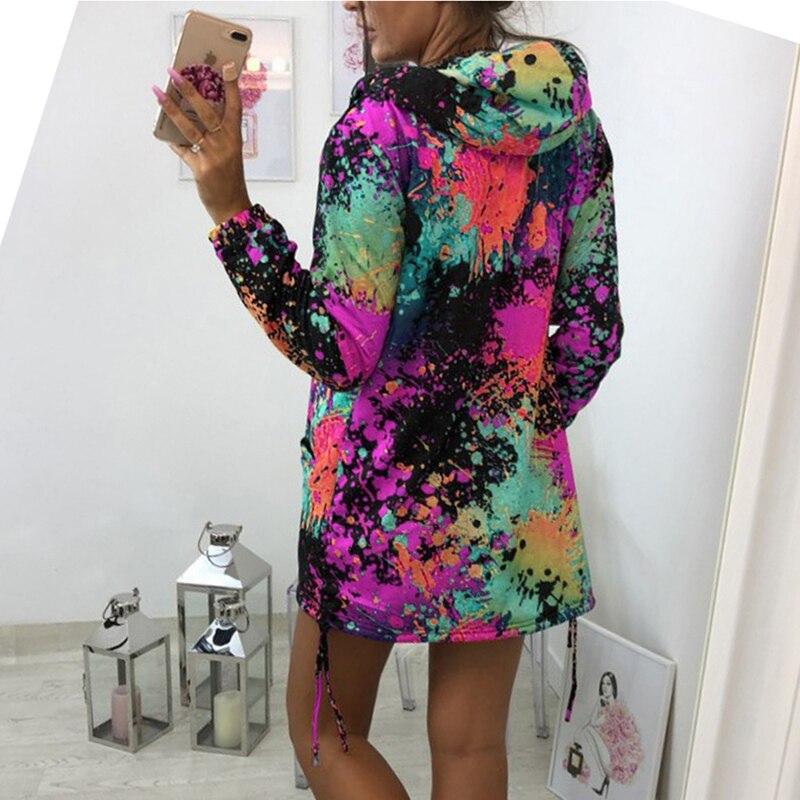 H0bb25c9f362740c4bca1affab38d1adcB Bomber Jacket Coat Women Colourful Tie Dyeing Print Pocket Zipper Hooded Sweatshirt Outwear Casual Windbreaker Slim Overcoat