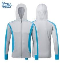 Trvlwego fishing shirt outdoor sport uv proof hiking jacket