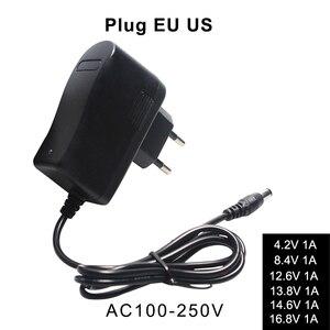 Image 1 - リチウムバッテリ充電器 4.2V 8.4V 12.6V 13.8V 14.6V 16.8V 1A 1000mA 18650 充電器自動電源オフ EU 米国のプラグイン壁の充電器