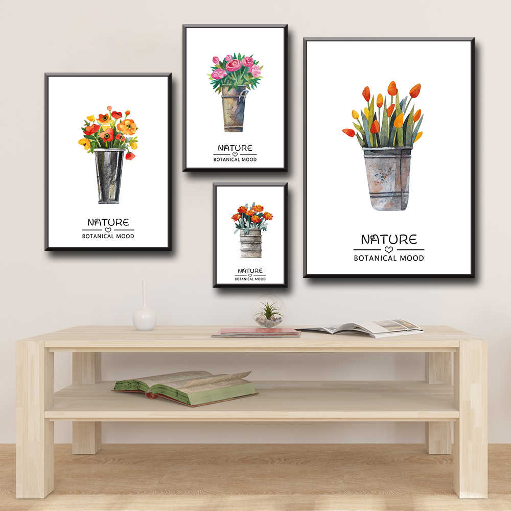 Posters And Prints Pot Plant Wall Art Canvas Painting Wall Pictures For Living Room Decor Pictures On The Wall Home Decor