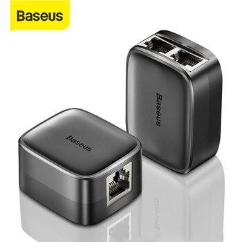 цена на Baseus RJ45 Connector 1 in 2 Extension Network RJ45 Adapter Extender Lan Ethernet Cable RJ 45 Female to Female RJ45 Splitter