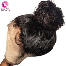 Eva włosów 360 koronki przodu peruka wstępnie oskubane z dzieckiem włosy Glueless kręcone koronki przodu włosów ludzkich peruk dla kobiet brazylijski Remy włosy