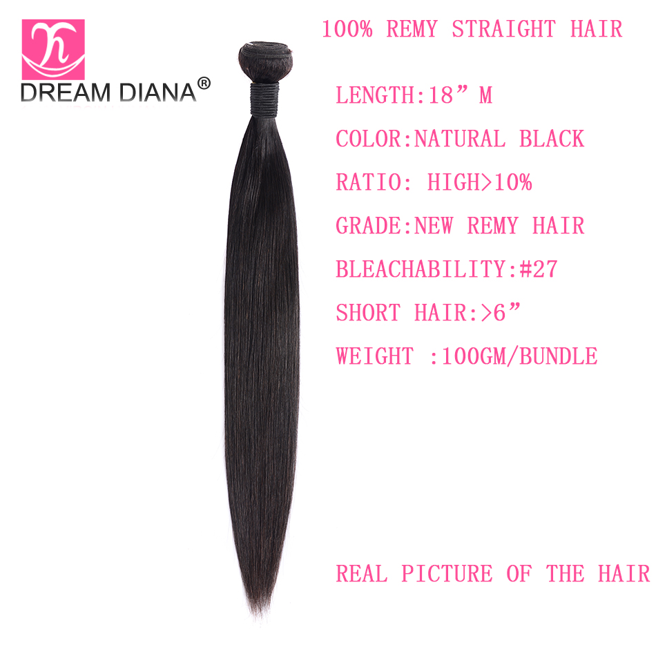"""Image 5 - DreamDiana Indian Hair Straight 1/3/4 Bundles 8"""" 30"""" L Remy Weaving Hair Bundles Natural Black Color 100% Human Hair Extensions-in Hair Weaves from Hair Extensions & Wigs"""