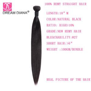 "Image 4 - DreamDiana Indian Hair Straight 1/3/4 Bundles 8 30"" Remy Weaving Hair Bundles Natural Color 100% Human Hair Extensions Low Ratio"