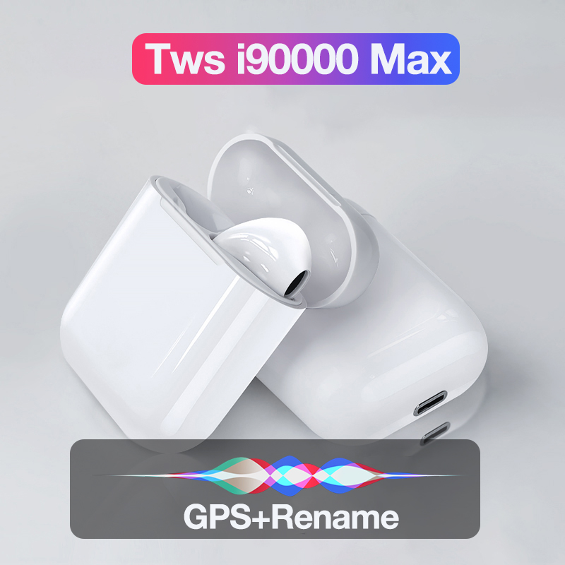 Tws I90000 Max Wireless Headphones Bluetooth Earphone In Ear Stereo Bass Earbuds For Smart Phone Sports Headset With Microphone