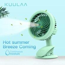 KUULAA Portatile Spruzzo Dacqua del Ventilatore della Foschia Elettrico Ricaricabile USB Tenuto In Mano Mini Ventilatore di Raffreddamento Condizionatore Daria Umidificatore per Esterno
