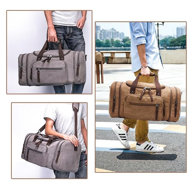 Markroyal lona sacos de viagem grande capacidade carry on sacos de bagagem dos homens mochila de viagem tote fim de semana saco dropshipping 6