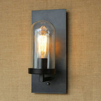 Industrial lâmpada de vidro preto luzes parede interior quarto luz lustre led applique murale led
