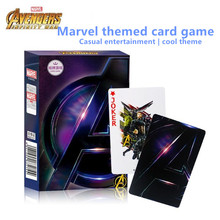 Disney Marvel «холодные мстители», бумажные игральные карты, повседневные настольные карты, игры для команды, интерактивные игрушки для детей и в...