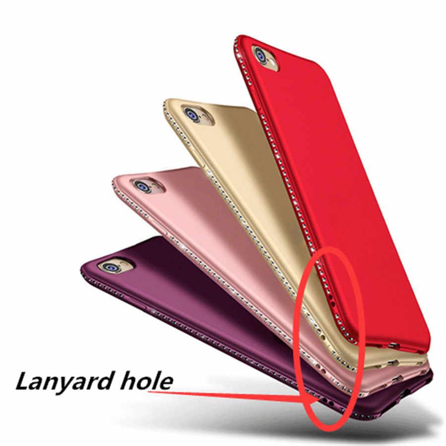 حافظة من السيليكون الماسي لهاتف شاومي ريدمي 4A 6 6A S2 5 Plus 5A Prime Note 4X 4 Pro Mi MAX 3 Mi A1 A2 Lite 5X 6X Pocophone F1