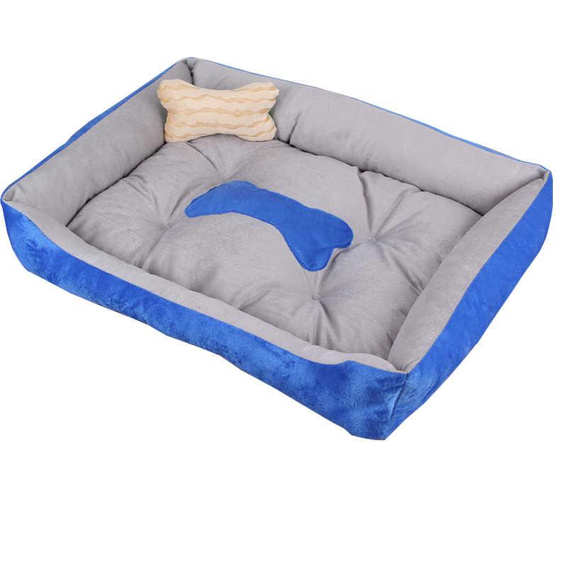 Lit pour chien pour grands chiens confortable doux chien couverture maison lavage facile résistant à l'eau été tapis os chiot moyen petit chien
